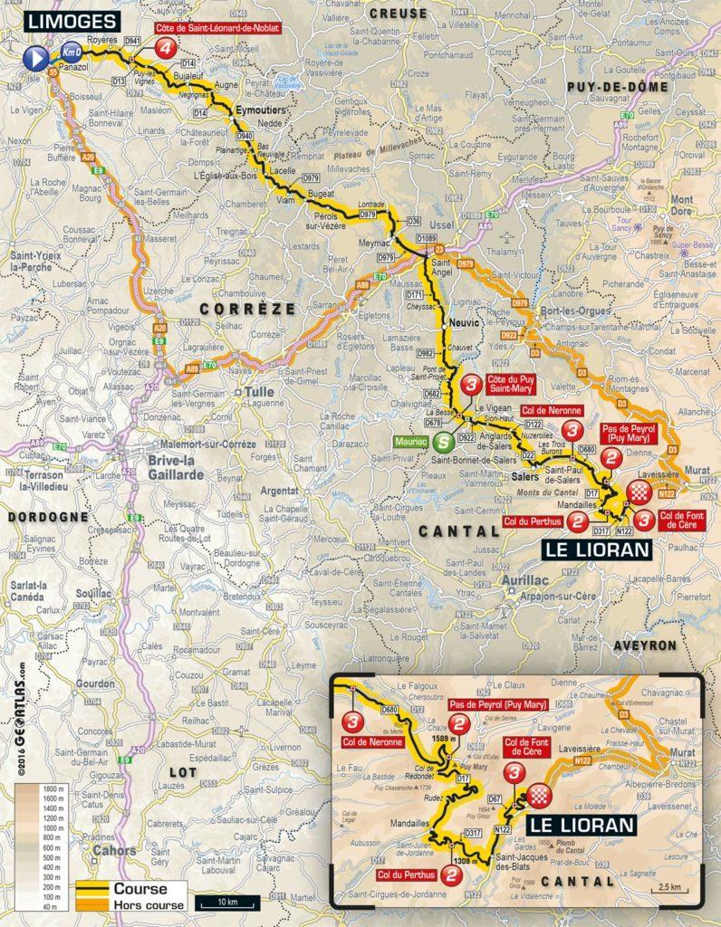 Tour de France 2016 – Karte der 5. Etappe